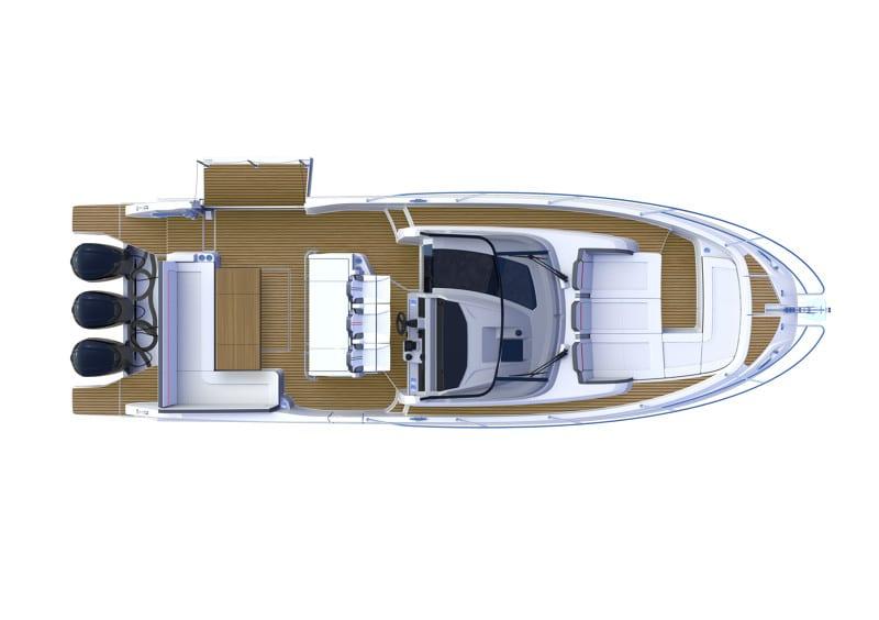 סירת מנוע JEANNEAU CAP CAMARAT 12.5WA - NEW - סטרים יאכטות