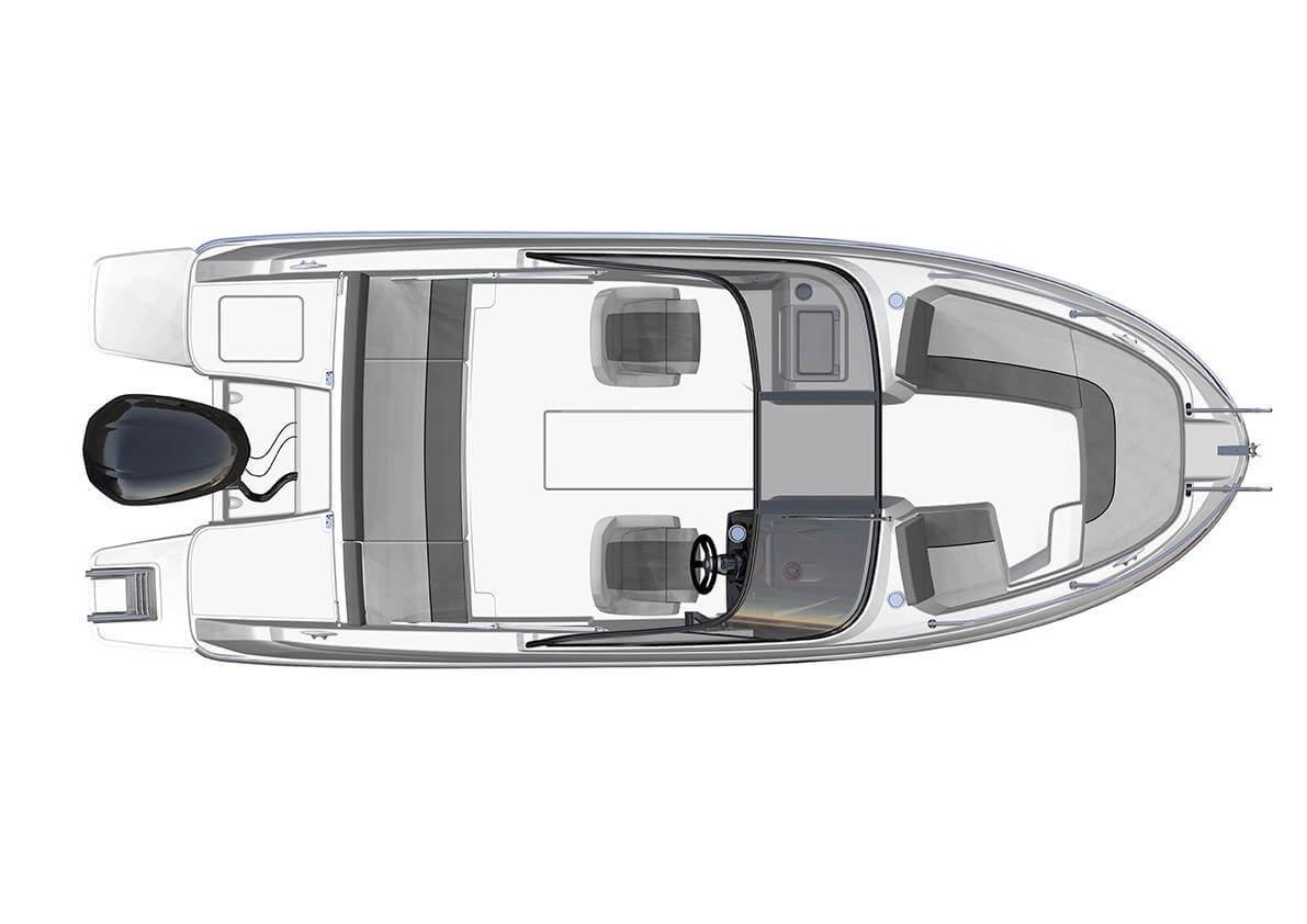 סירת מנוע JEANNEAU CAP CAMARAT 6.5BR - סטרים יאכטות