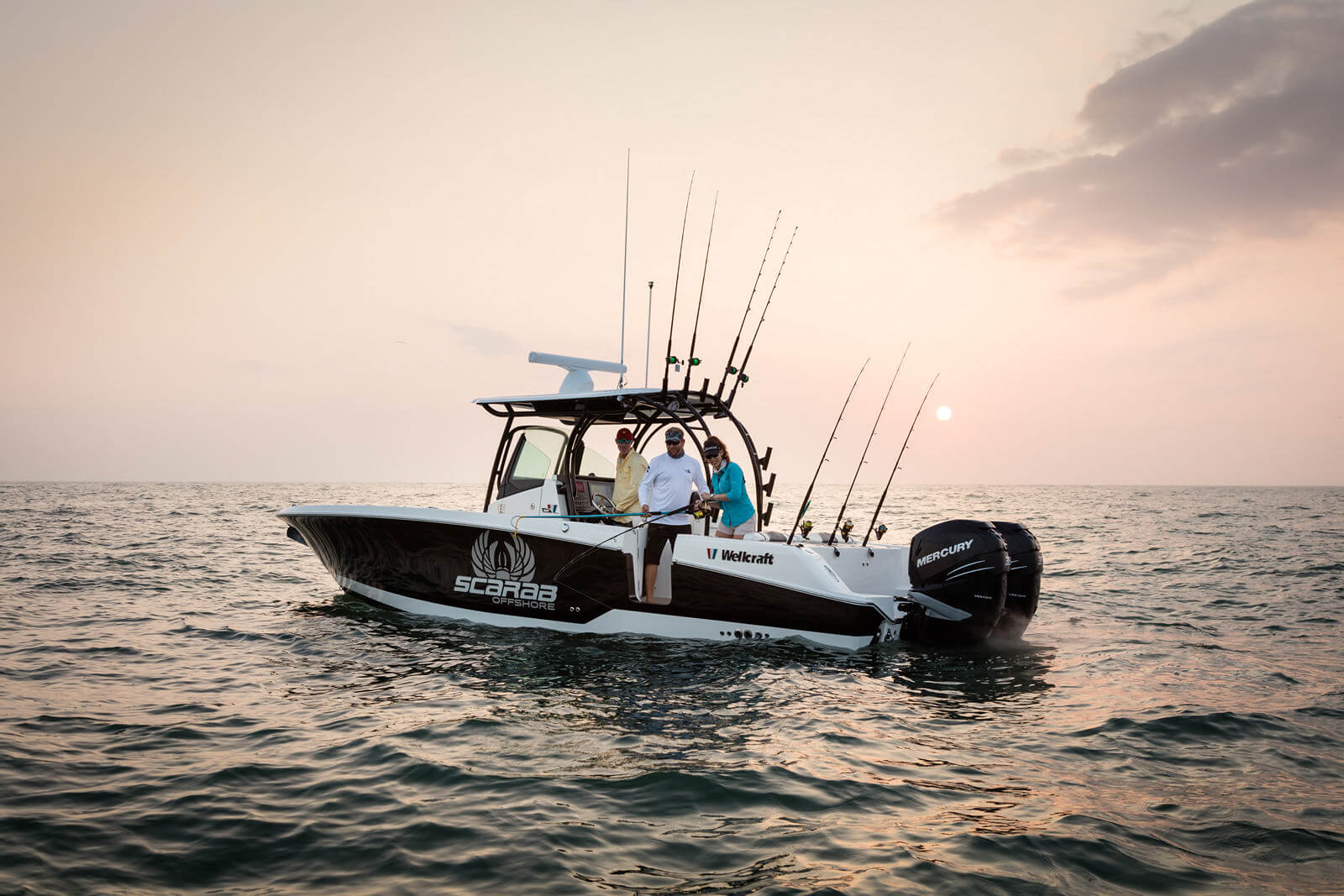 האופנה האופנתית סירת דייג Wellcraft Fisherman 302 - סטרים יאכטות CV-09