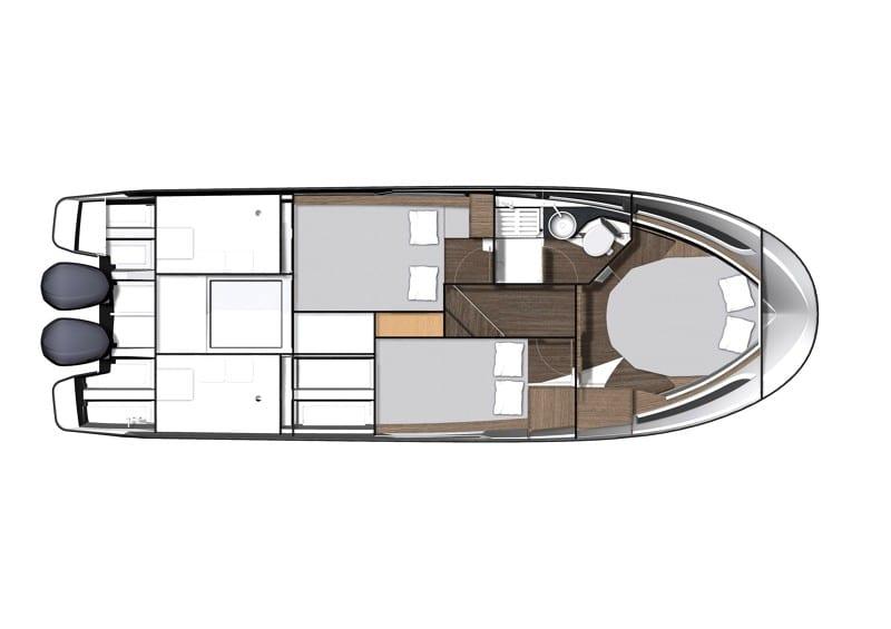 סירת מנוע JEANNEAU MERRY FISHER 1095 FLY - סטרים יאכטות